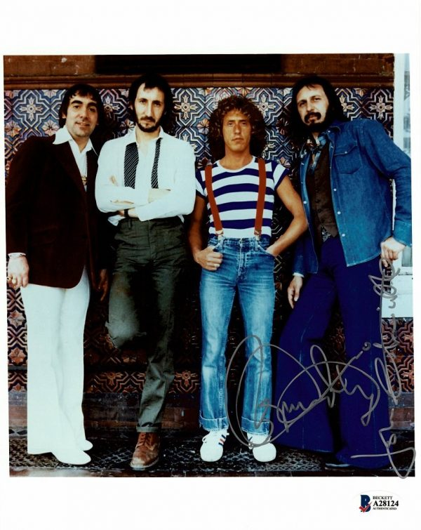 John Entwistle Roger Daltrey signed photograph The Who Autographs