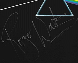 Roger Waters signed Dark Side Of The Moon autograph