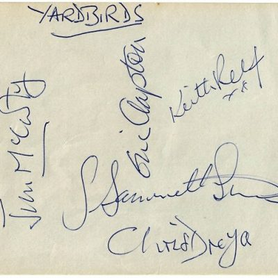 The Yardbirds Autographs with Eric Clapton