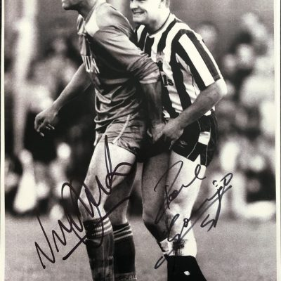 Vinnie Jones Paul Gascoigne Autographs Gazza signed photograph