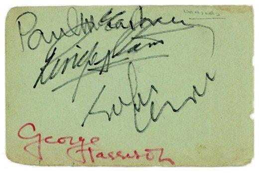 the beatles autographs 1965