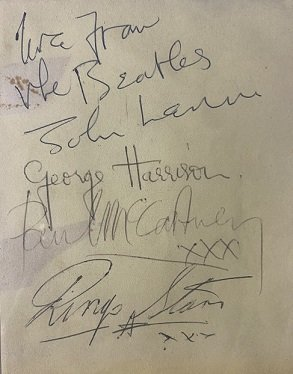 the beatles autographs 16-03-1963