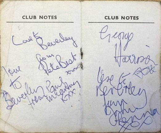 the beatles autographs from 1962 2
