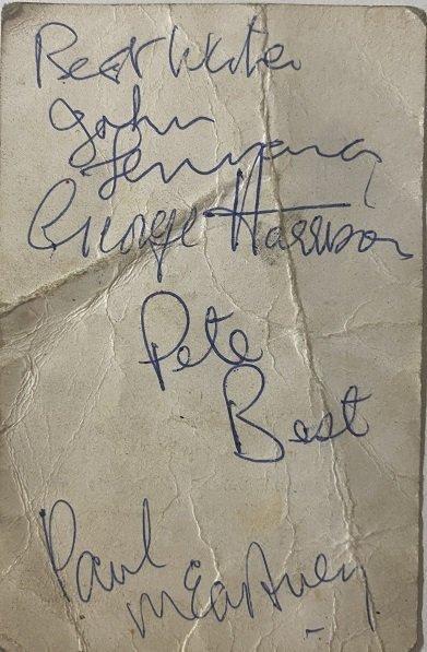 the beatles june 1962 autographs with pete best