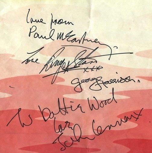 1967 signatures beatles