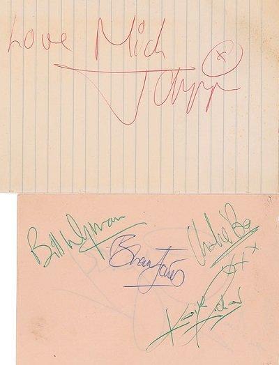 1968 rolling stones autographs