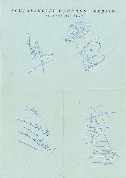 1973 the rolling stones autographs