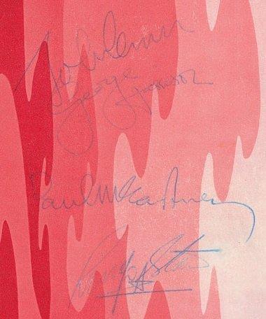 Dec 1967 beatles signatures