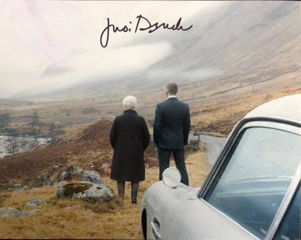 Judi Dench signed James Bond photograph 007 8×10
