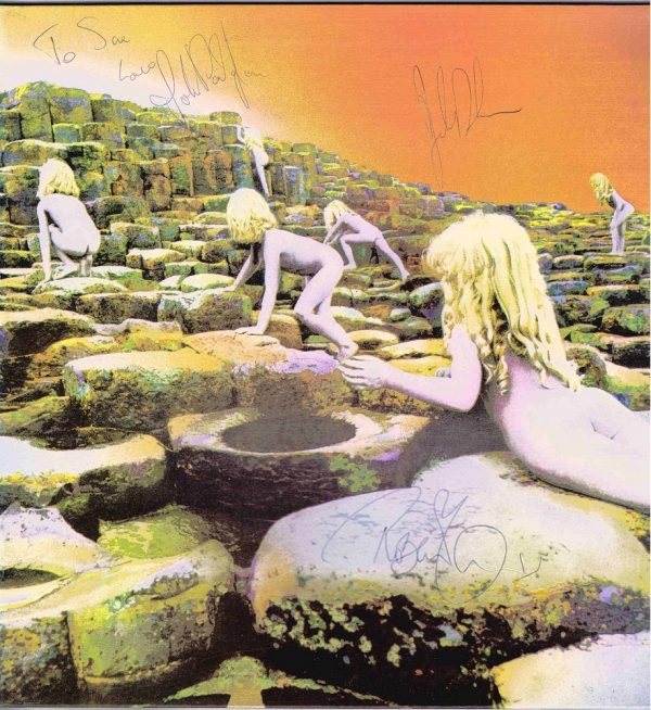 Authentic Led Zeppelin Autographs Houses of the Holy Vinyl Lp