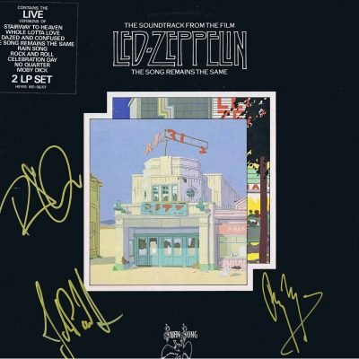 Led Zeppelin hand signed The Song Remains The Same Lp