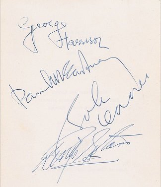 March 1964 beatles signed page