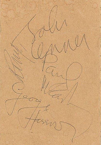 May 1964 beatles signatures