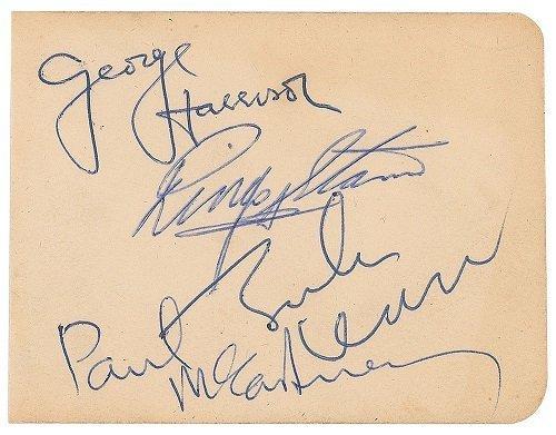 Nov 1963 beatles signatures