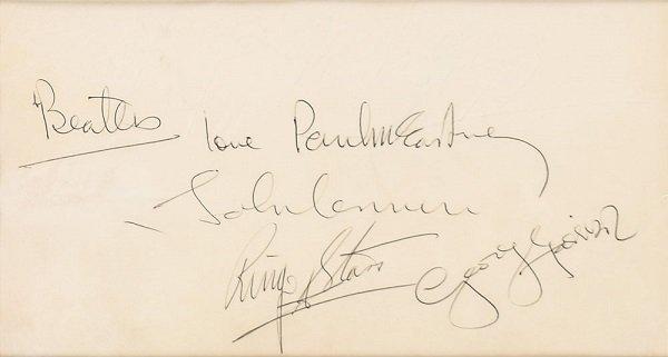 Oct 1967 beatles signatures