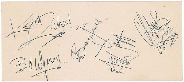 feb 1964 rolling stones signatures