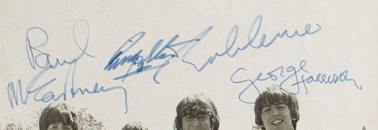 feb 1965 beatles signed photo 2