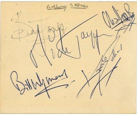 the rolling stones signatures 1963-64