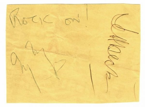 Jimmy Page Jeff Beck Autographs | Signed concert ticket