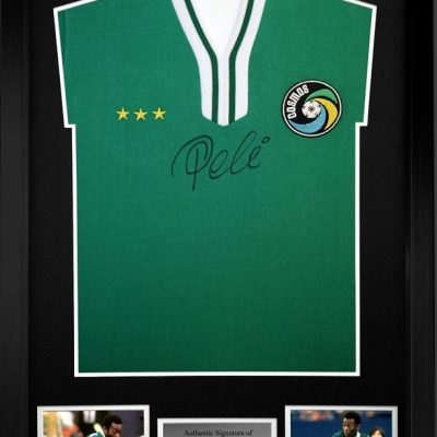 Pele signed New York Cosmos Football Shirt