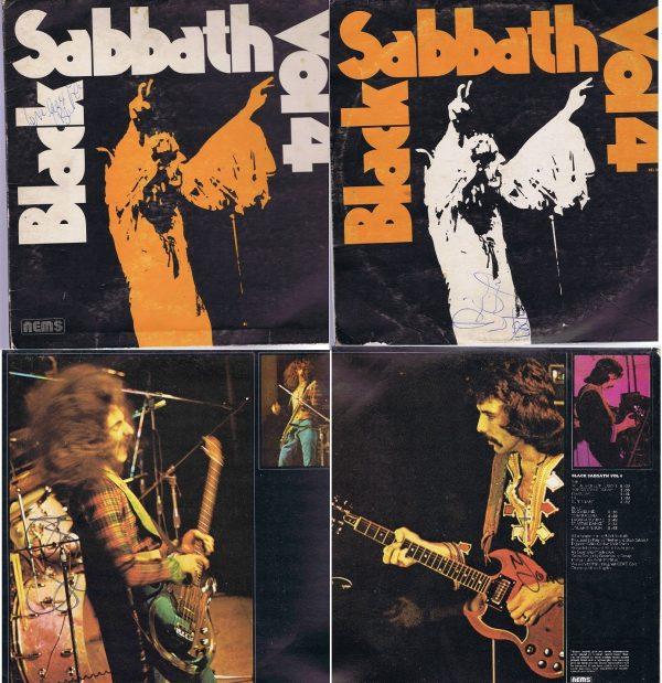 Black Sabbath Vol 4 Autographs 70's vintage signatures.