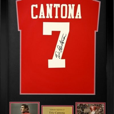 Eric Cantona Autographed Manchester United Football Strip autographe