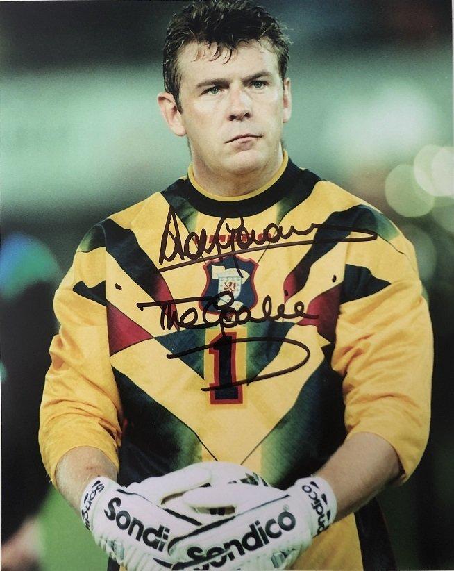 Andy Goram Scotland Goalkeeper signed photo 8x10