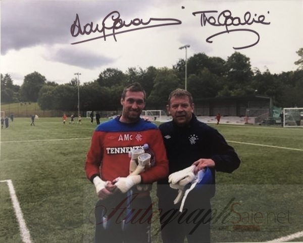Andy Goram autograph photo Rangers Allan McGregor