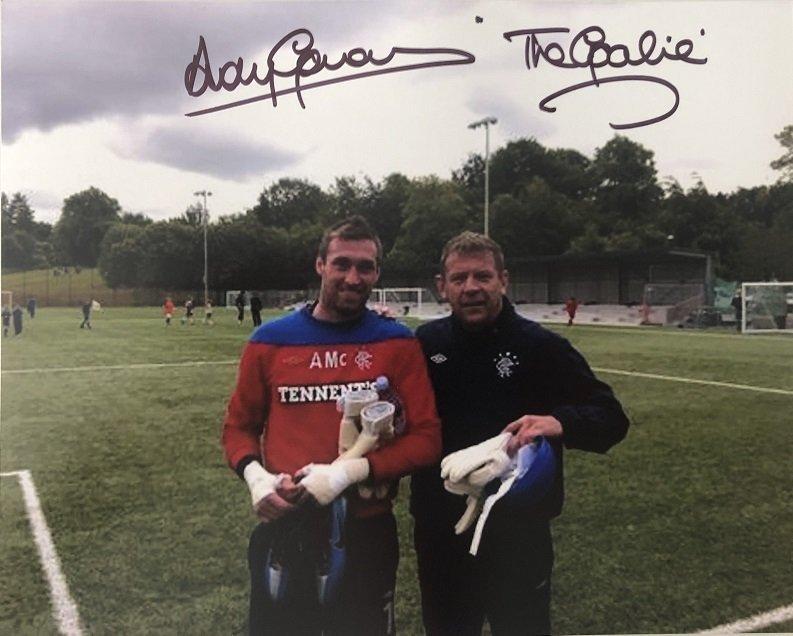 Andy Goram autograph photo Rangers Allan McGregor