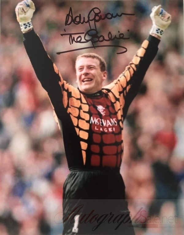 Andy Goram signed photograph Glasgow Rangers 8×10