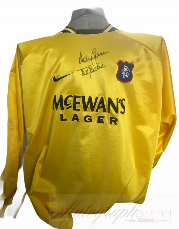Andy Goram Autograph Rangers Goalkeeper shirt signed