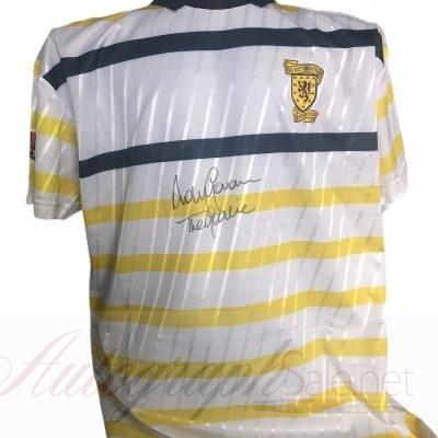 Andy Goram Autograph Scotland shirt The Goalie