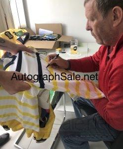 Andy Goram scotland shirt 1 signing