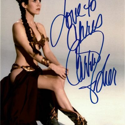 Carrie Fisher Princess Leia autograph Star Wars 8×10