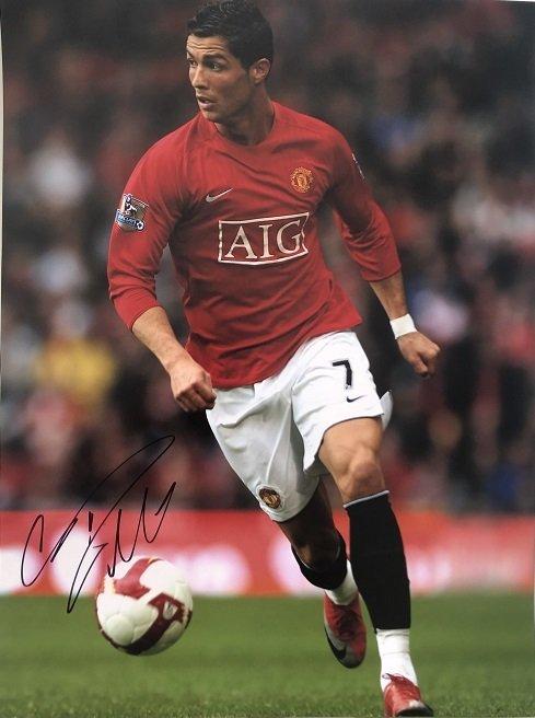 Cristiano Ronaldo Autographed Photo Manchester United 12×16″