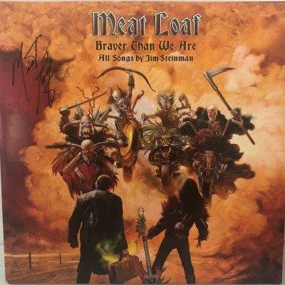 Meat Loaf Autographed Braver Than We Are Album vinyl