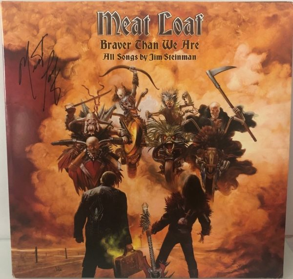 Meat Loaf Autographed Braver Than We Are Album vinyl