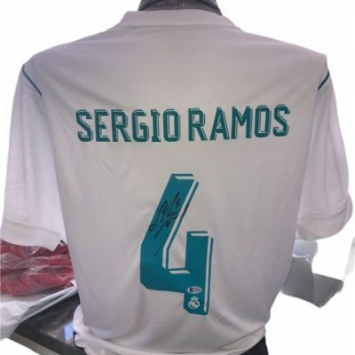 Sergio Ramos Autographed Real Madrid Football shirt