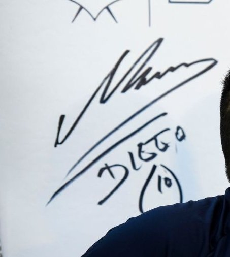 authentic diego maradona autographs