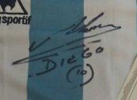 autograph of maradona