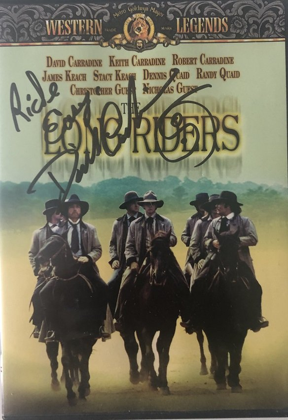 David Carradine signed DVD The Long Raiders Autograph