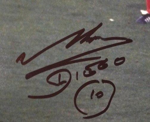 diego maradona autograph 10 argentina photo