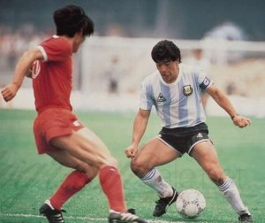 diego maradona autographs football