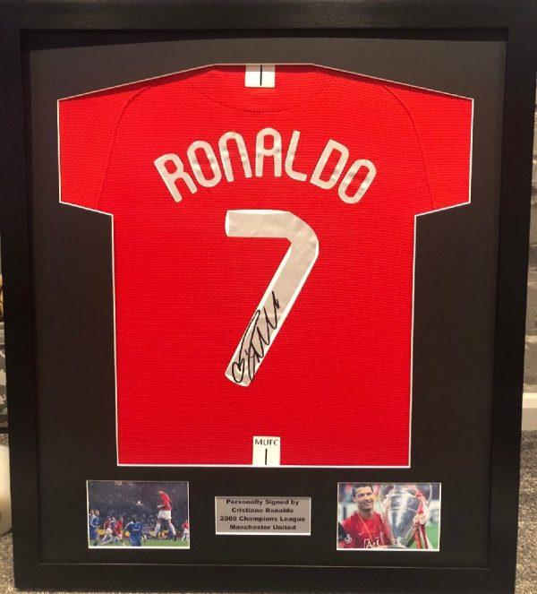 Cristiano Ronaldo signed Champions League Manchester United 2008