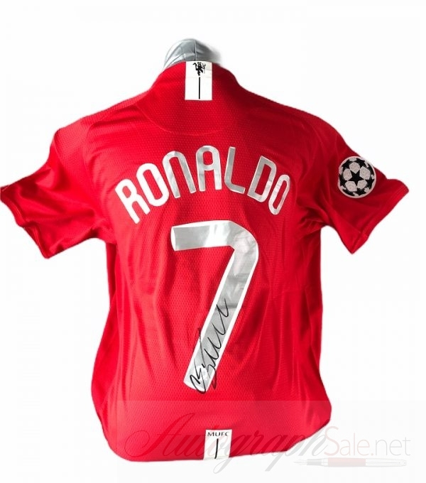 Cristiano Ronaldo Manchester United Champions League shirt signed 1