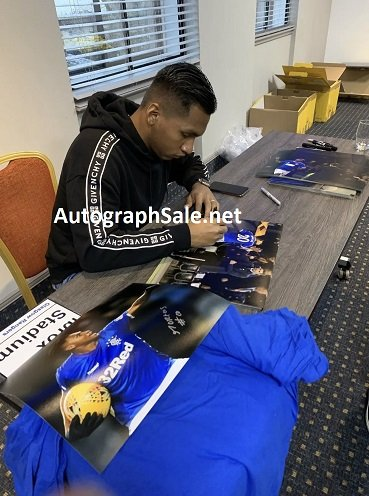 Alfredo Morelos autograph Rangers FC Football shirt signed