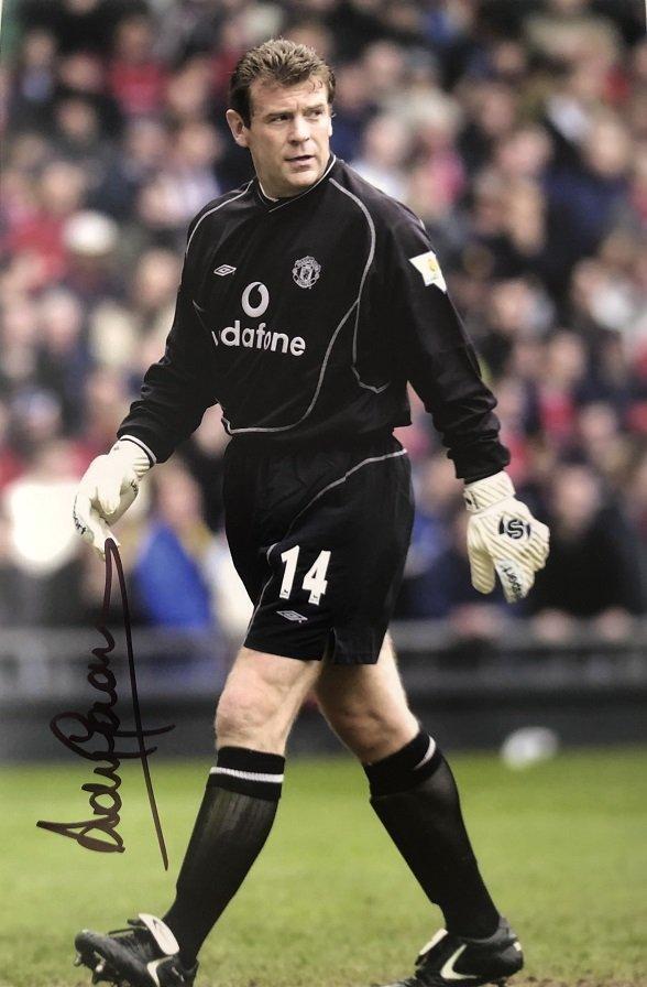 Andy Goram Manchester United signed Goalkeeper photo 12×8
