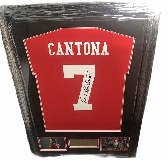 Eric Cantona signed shirt #7 Manchester United