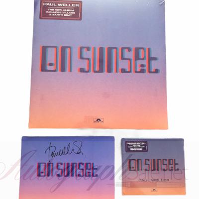 Paul Weller signed On Sunset Vinyl CD set   The Jam