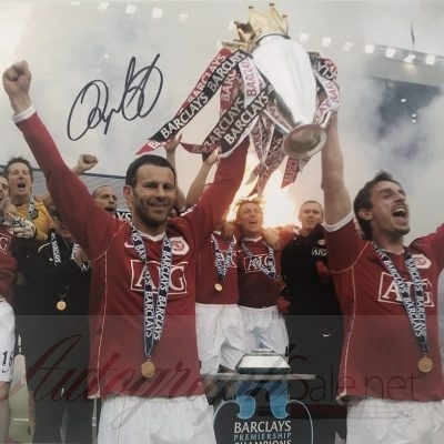 Ryan Giggs autographed photo 12×16″ Manchester United